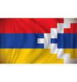 Flag of Nagorno-Karabakh Republic vector image