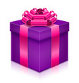 gift box with bow and ribbon stock vector image vector image