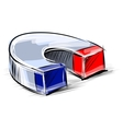 Glossy polished magnet sketch vector image