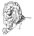 head of companion have lion sculpture vintage vector image vector image