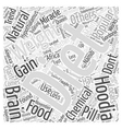 Hoodia diet compare Word Cloud Concept vector image vector image