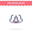 hot air circulation icon flat design vector image vector image