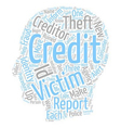 How To Clean Up Your Credit Ruined By Scammers vector image vector image