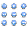icon button setfor control panel isolated on vector image vector image