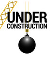 isolated wrecking ball vector image