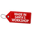 made in santas workshop label or price tag vector image