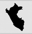 map peru isolated black on vector image