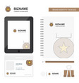medal business logo tab app diary pvc employee vector image vector image