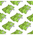 money seamless pattern on a white background for vector image