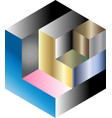 multi gradient isometric cube vector image