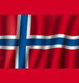 norway 3d flag background national symbol vector image