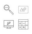 office simple linear outline icon set vector image vector image