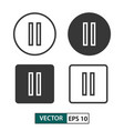 pause button icon set isolated on white eps 10 vector image vector image