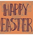 PrintHappy Easter Letters Print on Ornamental vector image