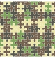 puzzle camouflage seamless pattern vector image