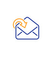 receive mail download line icon incoming messages vector image