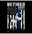 retired police officer vector image vector image