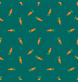 seamless pattern with cute carrots on green vector image