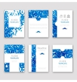 Set of brochures in Dotted Blue style Beautiful vector image vector image
