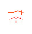 set of house logo design in creative line style vector image