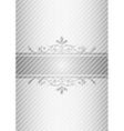 silver gray vintage background vector image vector image