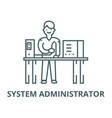 system administrator line icon linear vector image vector image