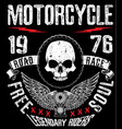 t-shirt or poster design with a motorcycle vector image vector image