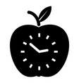 time apple icon simple black style vector image vector image
