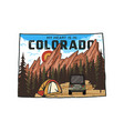 vintage colorado camp badge with tourist vector image