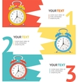 Wake Up Clock Option Banner vector image vector image