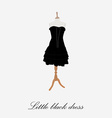 Woman black dress vector image vector image