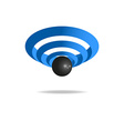 3D sign wi-fi sound wave icon technology logo vector image