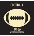 Football design on the brown background vector image