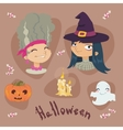 Halloween cartoon set vector image