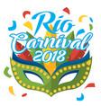 mask carnival rio de janeiro party vector image
