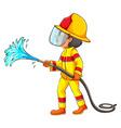 A drawing of a fireman vector image vector image