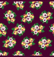 abstract floral seamless pattern flower vector image vector image