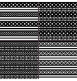 black and white polka dot horizontal striped vector image vector image