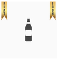 Bottle of beer - vector image vector image