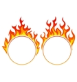 Burning round frame vector image