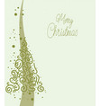 christmas card with abstract christmas tree vector image