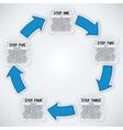 Circular Arrows Five Steps vector image