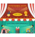 Circus banner set vector image vector image
