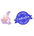 collage of gradiented dotted map of canada and vector image vector image