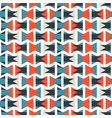 colorful orange and blue geometric pattern vector image
