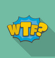 comic boom wtf icon flat style vector image vector image