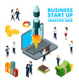 concept starting business startup vector image vector image