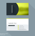 Creative Business Card Template Letter I Flat vector image