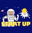 creative startup idea flat web banner template vector image vector image
