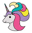 cute fantasy unicorn character vector image
